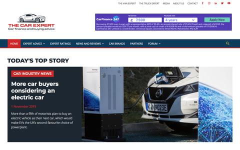 Screenshot of Home Page thecarexpert.co.uk - The Car Expert | Car finance and car buying advice - captured Nov. 4, 2019