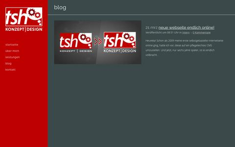 Screenshot of Blog tsh-konzeptdesign.de - tsh konzeptdesign |   Blog - captured Jan. 12, 2016