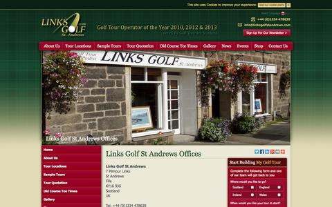 Screenshot of Contact Page linksgolfstandrews.com - Contact Us | Our Office | Links Golf St Andrews - captured Sept. 30, 2014