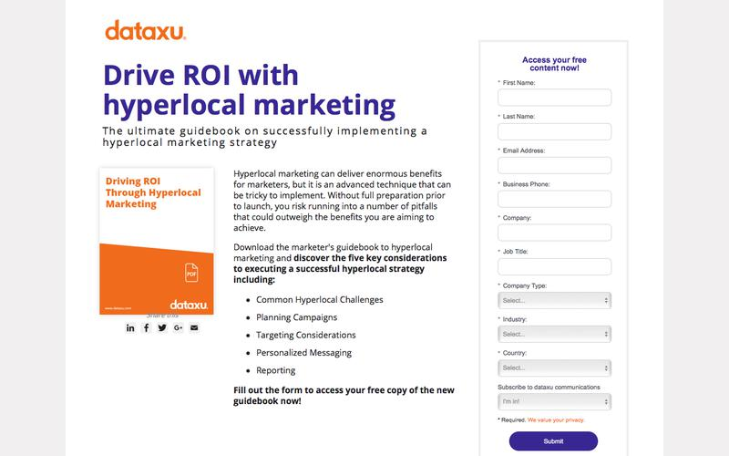 Drive ROI Through Hyperlocal Marketing: 2017 Marketing Guidebook