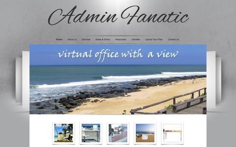 Screenshot of Home Page adminfanatic.com - Admin Fanatic - captured Sept. 30, 2014