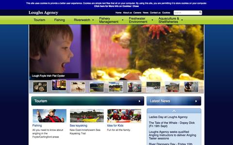 Screenshot of Home Page loughs-agency.org - Home - Loughs Agency - captured Sept. 26, 2014