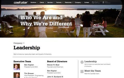Screenshot of Team Page cashstar.com - Leadership - CashStar - captured Dec. 3, 2015