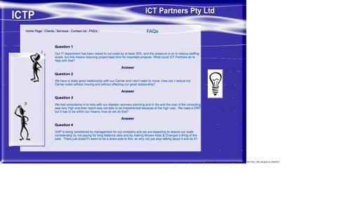 Screenshot of FAQ Page ictpartners.com.au - Contact Us - captured Oct. 6, 2014