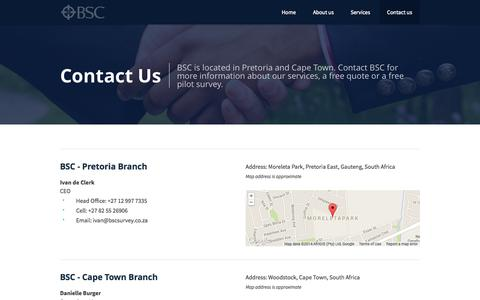 Screenshot of Contact Page businesssurveyconsultants.com - BSC - Contact Us - Business Survey Consultants - captured Oct. 5, 2014