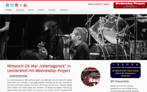 Screenshot of Home Page wednesday-project.de - Wednesday-Project - Best of Rockin´ Music - captured April 3, 2017