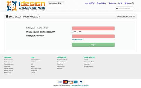 Screenshot of Login Page idesigncs.com - iDesign Creative Services | Login | Account - captured Dec. 20, 2018