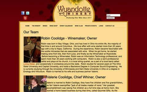 Screenshot of Team Page wyandottewinery.com - Our Team | Wyandotte Winery - captured Oct. 7, 2014