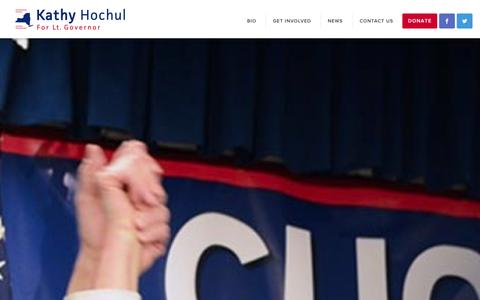 Screenshot of Home Page kathyhochul.com - Kathy Hochul - Kathy Hochul for Lieutenant Governor - captured Oct. 6, 2014