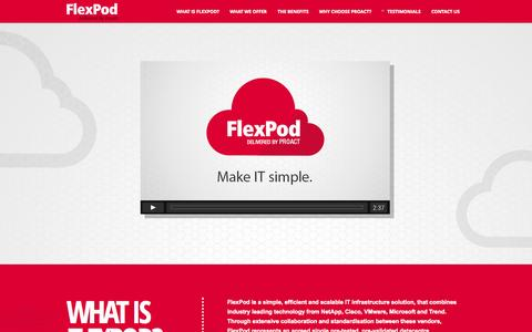 Screenshot of Home Page Contact Page Testimonials Page flexpod.co.uk - Flexpod Solutions - NetApp, Cisco, VMware Enterprise Storage Solution - Flexpod - captured Sept. 30, 2014