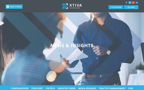 Screenshot of Blog xtiva.com - News & insights - Xtiva - captured Nov. 13, 2017