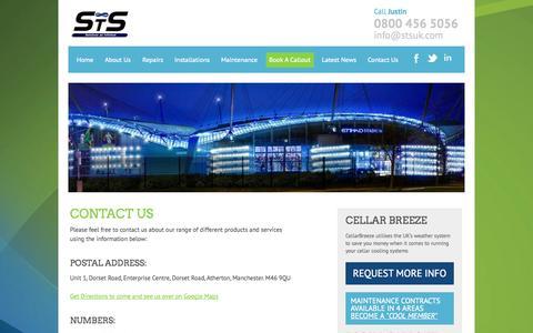 Screenshot of Contact Page stsuk.com - Contact STSUK | Manchester, M46 | Free call 0800 458 5056 | STSUK.com - captured Oct. 3, 2014