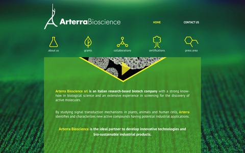 Screenshot of Home Page arterrabio.it - Arterra Bioscience- home - captured Feb. 6, 2016