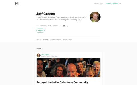 Latest stories written by Jeff Grosse – Medium