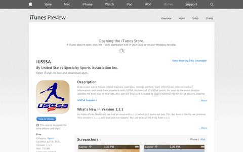 Screenshot of iOS App Page apple.com - iUSSSA on the App Store on iTunes - captured Nov. 1, 2014
