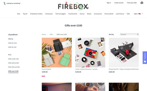 Gifts over 100 | FIREBOX
