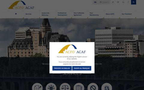 Screenshot of Home Page acfo-acaf.com - ACFO ACAF | Association of Canadian Financial Officers - captured Feb. 6, 2016