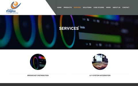 Screenshot of Services Page videoprogetti.it - Services - Video Progetti - captured Oct. 25, 2017