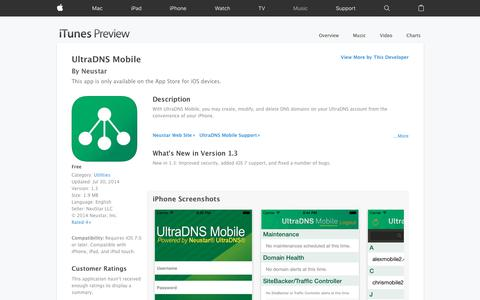 UltraDNS Mobile on the App Store