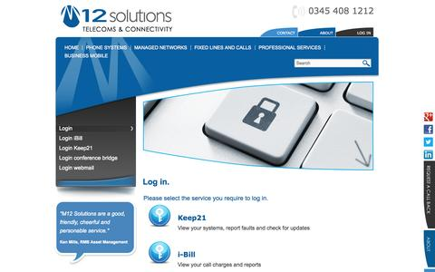 Screenshot of Login Page m12solutions.co.uk - Login | M12 Solutions - captured Oct. 3, 2014