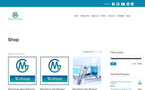 Screenshot of Products Page milesglobal.net - Products Archive - Miles Global - captured Oct. 23, 2017