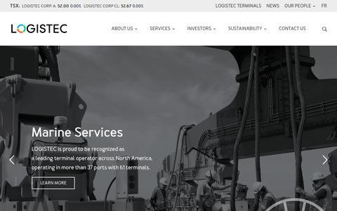 Screenshot of Home Page logistec.com - Home | Logistec - captured Sept. 29, 2018