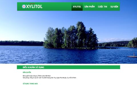 Screenshot of Terms Page lottexylitol.com.vn - Lotte Xylitol - captured Oct. 3, 2014