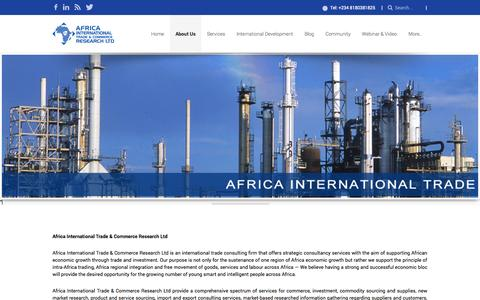 Screenshot of About Page africainternationaltrade.com - Africa International Trade » About Us - captured Oct. 4, 2014