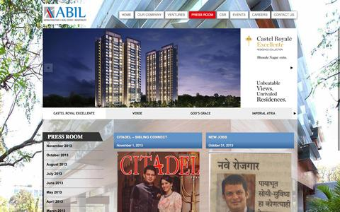 Screenshot of Press Page abilgroup.com - Press Room | ABIL - captured Oct. 4, 2014