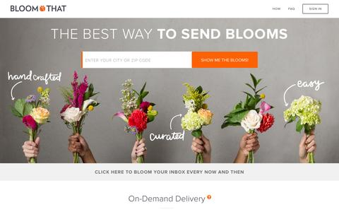Screenshot of Home Page bloomthat.com - Flower Delivery - BloomThat - captured Nov. 26, 2015