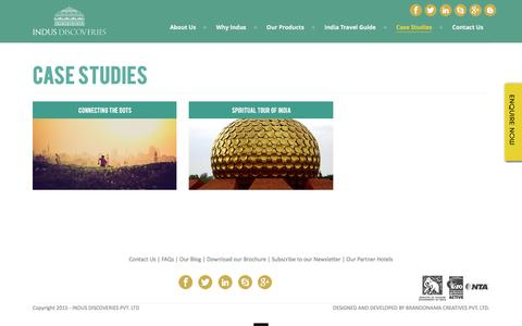 Screenshot of Case Studies Page indusdiscoveries.com - Indus Discoveries  » Case  Studies - captured Feb. 11, 2016