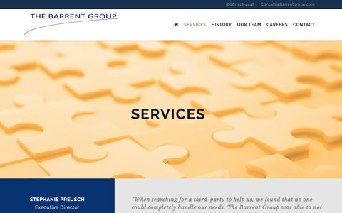 Screenshot of Services Page barrentgroup.com - Services - The Barrent Group - captured Feb. 23, 2016