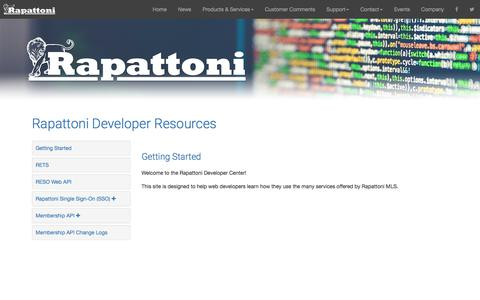 Screenshot of Developers Page rapattoni.com - Rapattoni Developer Resources - Rapattoni Corporation - captured Sept. 25, 2018
