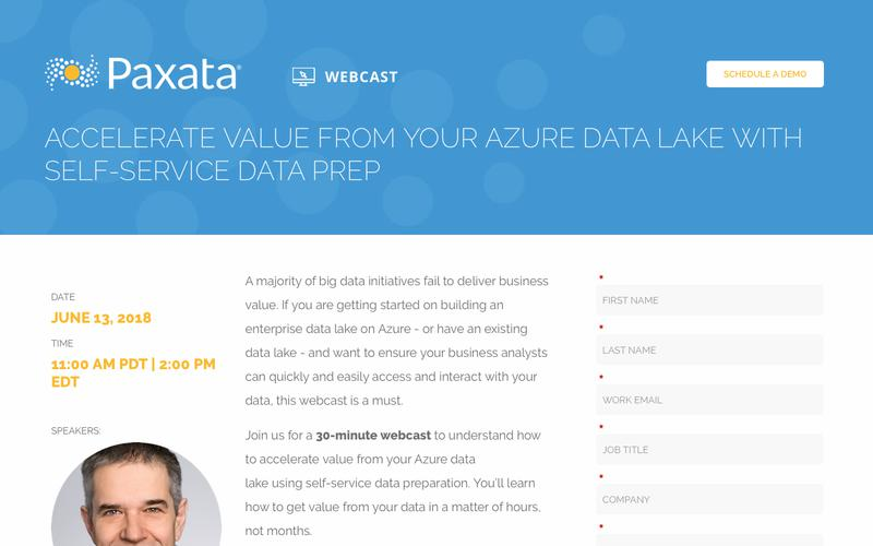 Accelerate Value From Your Azure Data Lake with Self-Service Data Prep