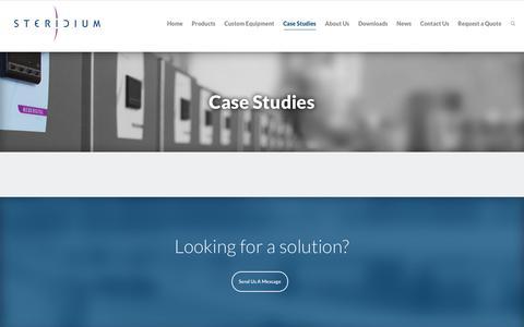 Screenshot of Case Studies Page steridium.com - Case Studies - Steridium - captured Oct. 25, 2017
