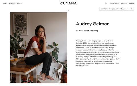 Screenshot of cuyana.com - Interview with Audrey Gelman   Cuyana - captured Sept. 24, 2017