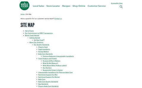 Site Map | Whole Foods Market