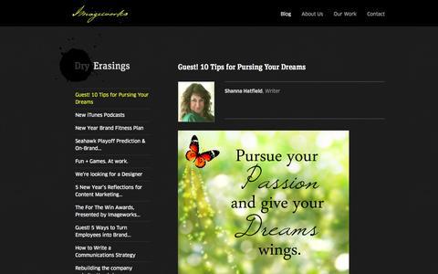 Screenshot of Blog imageworks.co - Imageworks : Brand. Humanized. - captured Sept. 30, 2014