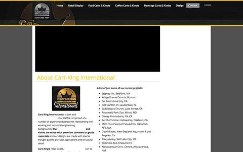 Screenshot of About Page cart-king.com - Cart-King | Cart and Kiosk Designer & Manufacturer - captured March 23, 2016