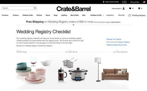 Wedding Registry Checklist | Crate and Barrel
