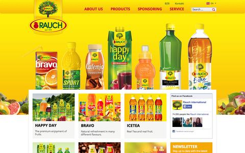 Screenshot of Products Page rauch.cc captured Oct. 7, 2014