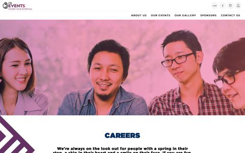 Screenshot of Jobs Page c55events.com - CAREERS | C55 Events - captured Dec. 6, 2018