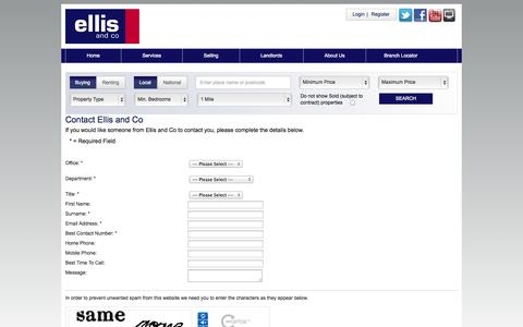 Screenshot of Contact Page ellisandco.co.uk - Ellis and Co - Contact Us - captured Sept. 24, 2014