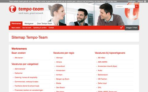 Sitemap Tempo-Team - Tempo-Team