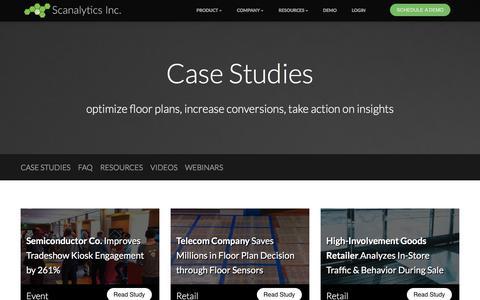 Screenshot of Case Studies Page scanalyticsinc.com - Case Studies | Scanalytics - captured Dec. 17, 2015