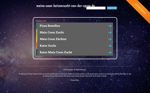 Screenshot of Home Page maine-coon-katzenzucht-von-der-spree.de - maine-coon-katzenzucht-von-der-spree.de - captured Oct. 30, 2018
