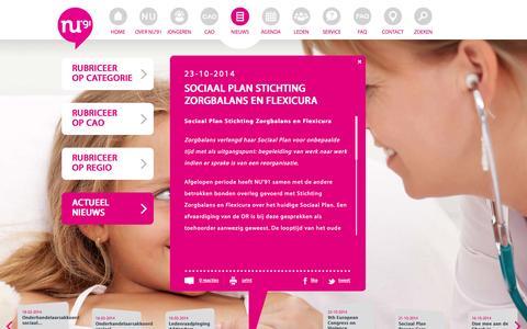 Screenshot of Press Page nu91.nl - NU91 - captured Oct. 26, 2014