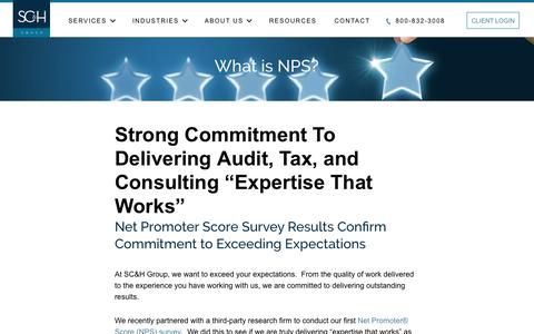 What is NPS? | SC&H Group