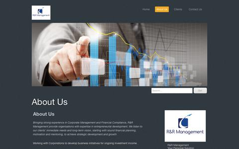 Screenshot of About Page rrmanagement.com.au - About Us - RRM provides a range of Executive Services and Professional Resources - captured July 25, 2018