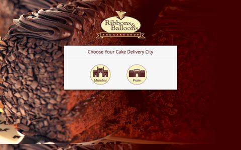 Screenshot of Home Page ribbonsandballoons.com - Online Cake Delivery in Mumbai | Order Cake Online in Mumbai - Ribbons & Balloons - captured July 8, 2017